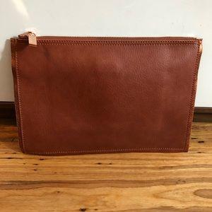 Deux Lux Leather clutch brown